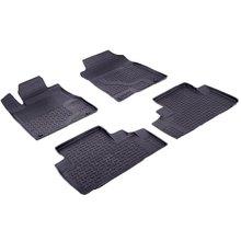 Резиновые коврики для Honda CRV IV (2012-2015) с высокими бортиками (Seintex 85083)