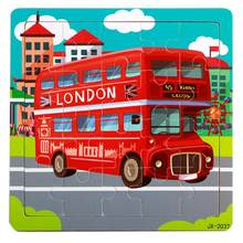 Puzzle 3D Colorful Cartoon LONDON Bus hand grasping puzzle Jigsaw Light Stress Jeux Educatif Enfants(China)