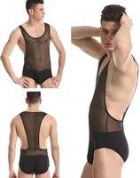Мужчины в bodywear простирание подтяжк борьба синглетный нижнее белье спортивная одежда 4 цвета m l xl