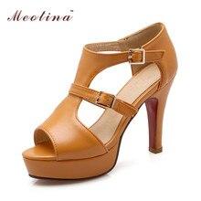 Designer Shoes Gladiator Sandals Open Toe High Heels Shoes Rome Platform High Heels Sandals Yellow White Big Size 34-43