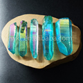 WT-G124 Gorgerous blue   Aura crystal point  Beautiful raw titanium crystal quartz point for jewelry making