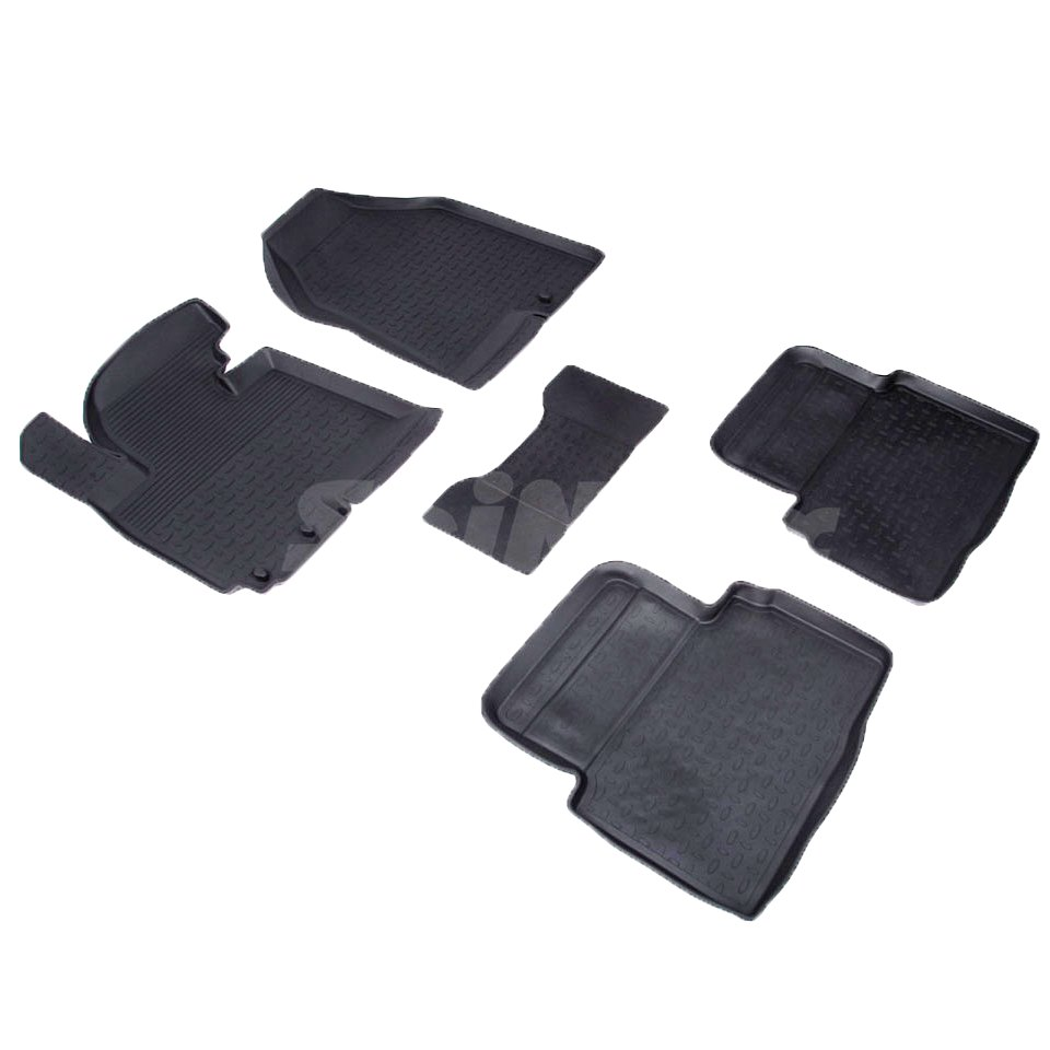 цена на Rubber floor mats for Kia Sportage III 2010 2011 2012 2013 2014 2015 Seintex 71745