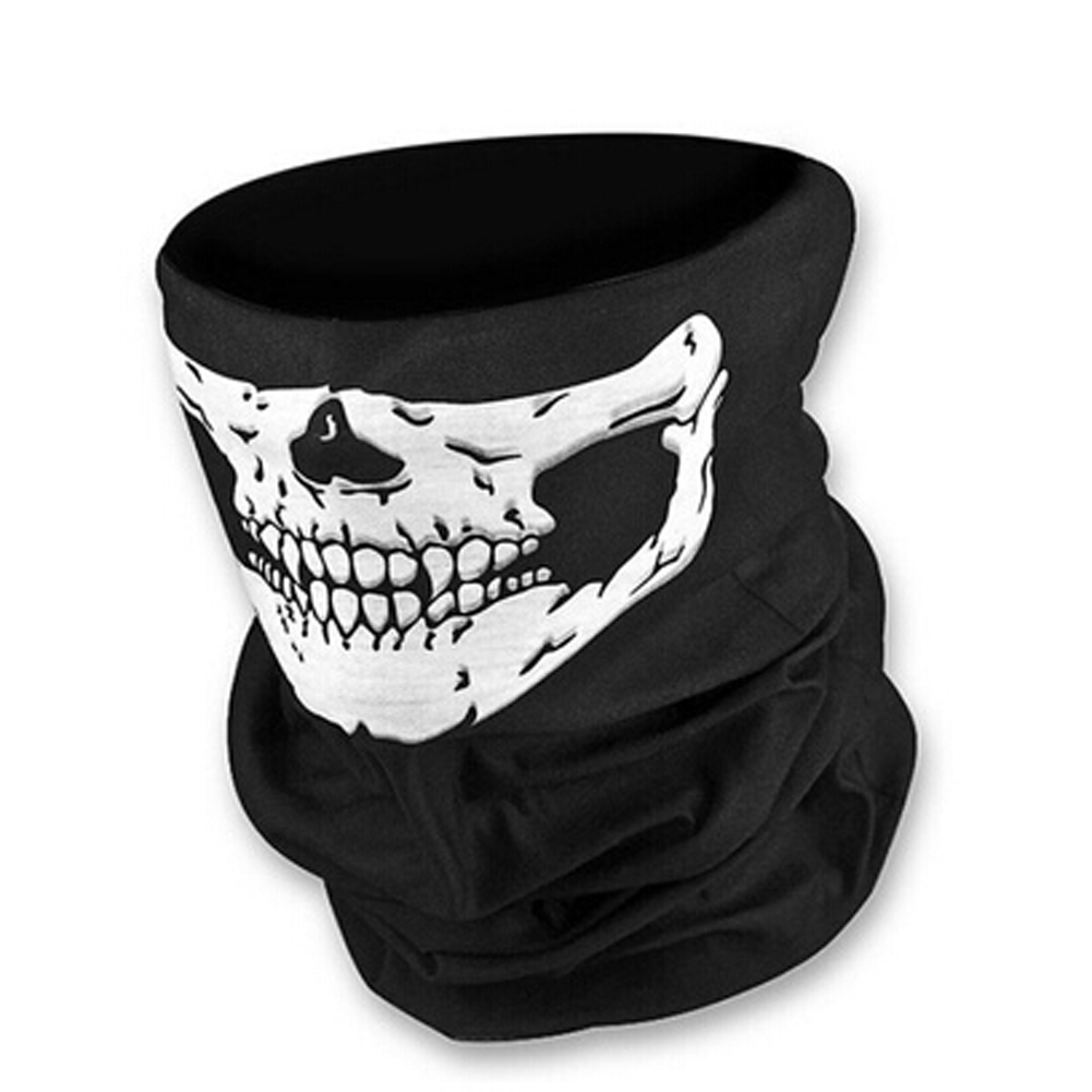FancyQube Motorcycle SKULL Face Mask Outdoor Warm Scarf