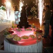 Электрический Шоколадный фонтан, посвященный booth красочные Dazzle светодиодные фонари с дистанционным управлением акрилового материала производства