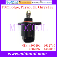 Nuevo Auto IAC Idle Air Control Válvula uso OE NO. 4300494, 4612740, 4307897, 4467002 para Chrysler Dodge Plymouth