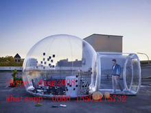Factory Customized Clear Outdoor Single Tunnel Inflatable Bubble Camping Tent / Inflatable camping tent
