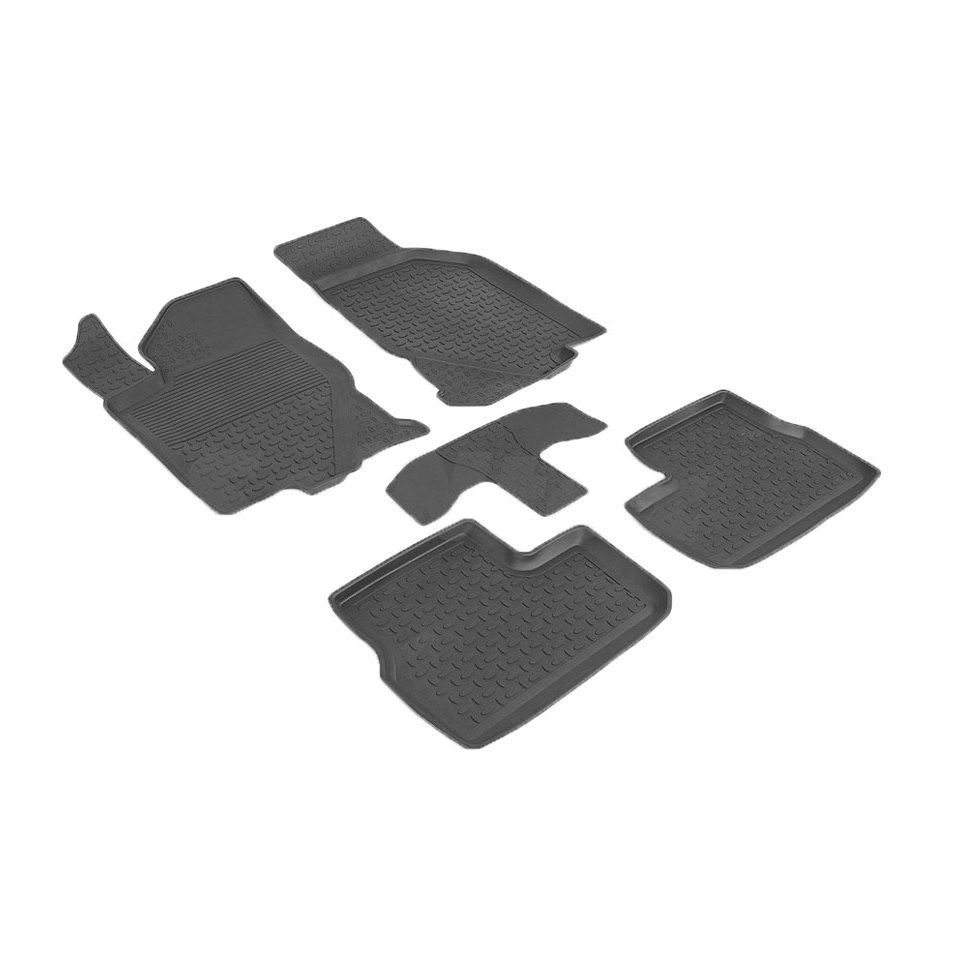For Datsun MiDo 2014-2019 rubber floor mats into saloon 5 pcs/set Seintex 86445 for datsun mido 2014 2019 trunk mat rival 18701002