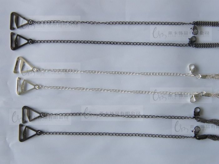 Metal Adjustable Silver Black Bra Shoulder Strap Rhinestone Bra Shoulder Strap Double Beads Clip Bra Underwear Shoulder Straps 11
