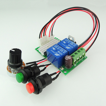 PWM контроллер скорости двигателя постоянного тока 6V12V24V реверсивный переключатель Электрический мотор контроллер Кнопка толкатель