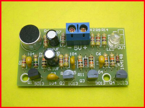 Free Shipping!!! Sensitive / Colorful LED / beat bistable switch / diy kit / electronic
