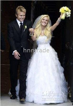 Gown Strapless Floor Length Tulle Celebrity Wedding Dress Igd033 Heidi Montag Ball