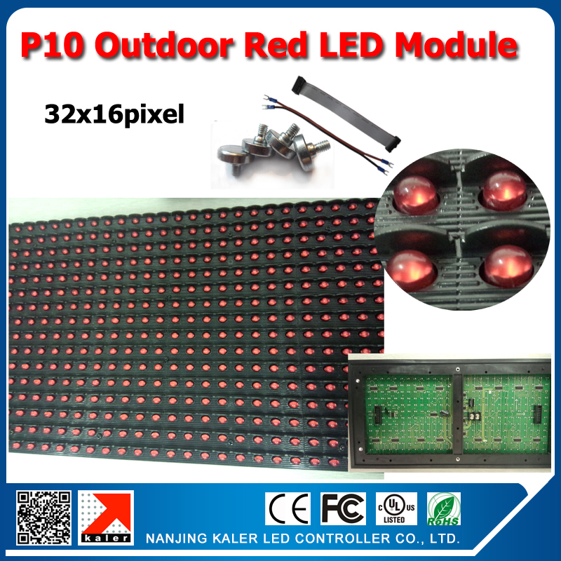 TEEHO Led Sign P10 Outdoor Red Color Led Module 346 Dip Led High Brightness For Outdoor P10 Led Red Board