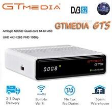 цена на FREESAT GTS Android 6.0 4K TV BOX Combo DVB-S2 Satellite Receiver 2/8GB RAM ROM Amlogic S905D BT4.0 Set Top box + 1 year cccam