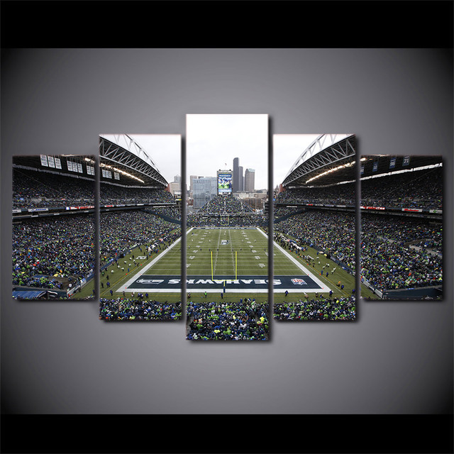 5 Panel Seahawks Football Game Stadium HD Printed Picture Wall Art ...