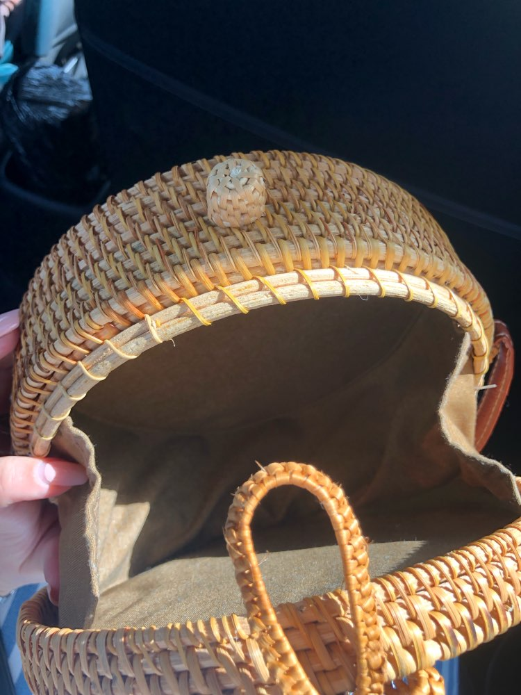 Bolsas de ombro Rattan Handmade Círculo