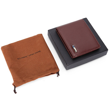 Men's Genuine Leather Smart Wallet iOS, Android App