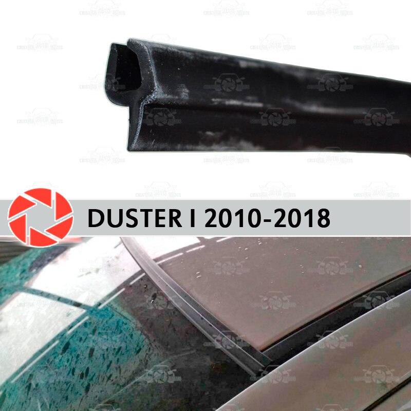 กระจก deflectors สำหรับ Renault Duster 2010-2018 กระจกซีลป้องกัน Aerodynamic ฝนรถจัดแต่งทรงผม COVER Pad