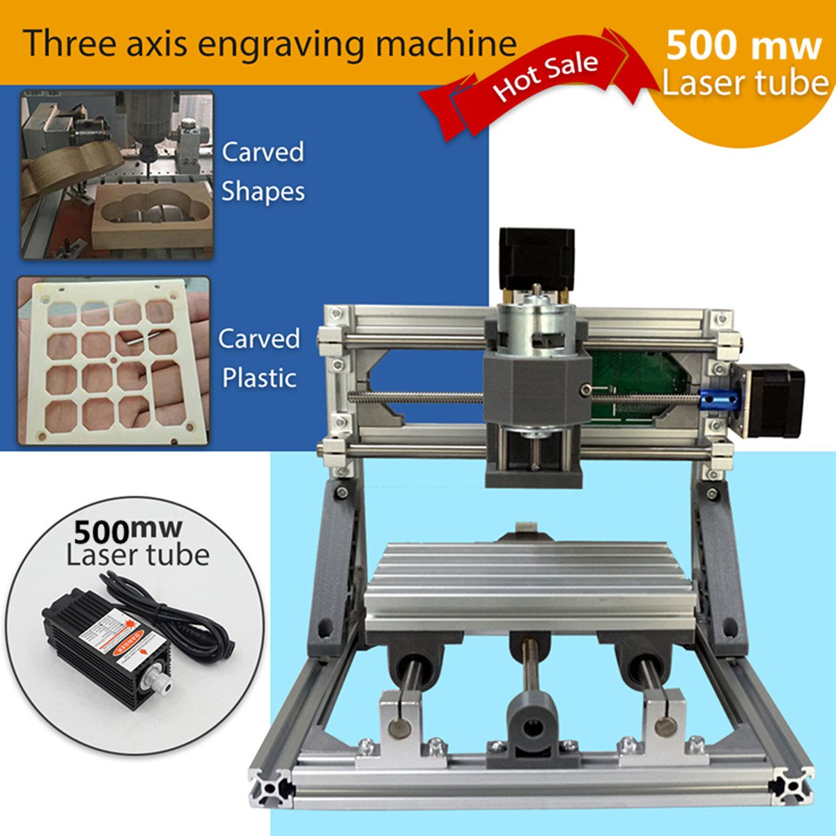 CNC 1610 500mw GRBL Control DIY 3 Axis pcb Milling Machine Wood Router Laser Engraving Best ToysCNC 1610 500mw GRBL Control DIY 3 Axis pcb Milling Machine Wood Router Laser Engraving Best Toys