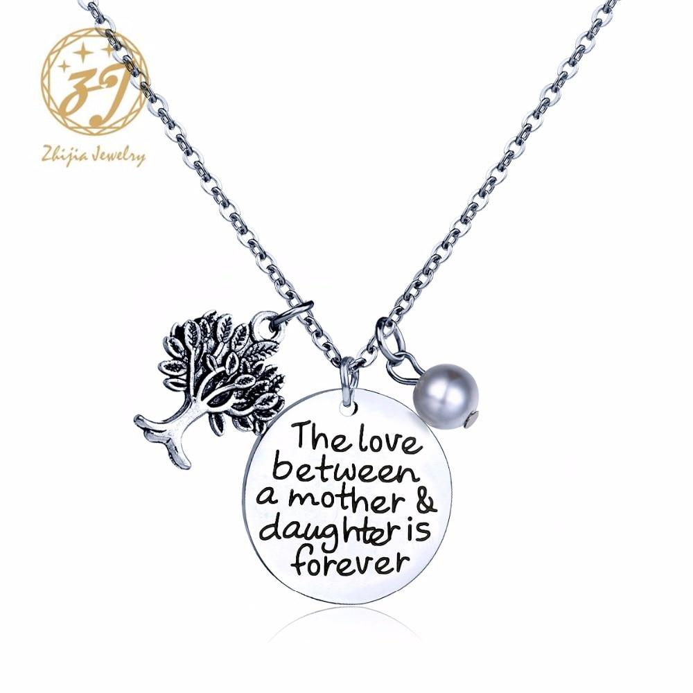 Pour mon fils fille mère père Tag ID Pendentif Keychain Collier Famille Bijoux