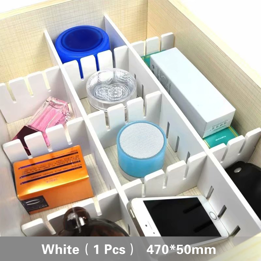 DIY Grid Drawer Divider Adjustable Drawer Clapboard Partition Divider Cabinet Storage Organizer