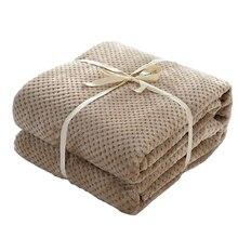 Japão Estilo de Flanela Velo Coral Mink Lance Cobertor Planície Sólida Grosso Macio Respirável Quente Xadrez Primavera Verão Cobertores Quilt