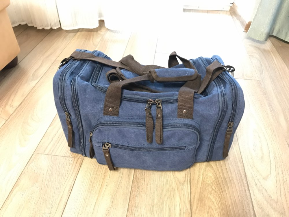 MARKROYAL Soft Canvas Men Travel Bags Carry On Luggage Bags Men Duffel Bag Travel Tote Large Weekend Bag Overnight High Capacity photo review