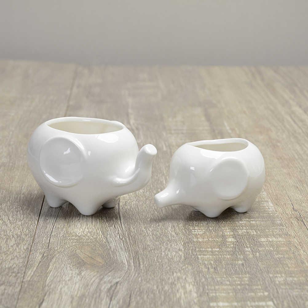 Detail Feedback Questions About 2pcs Cute Elephant Flower Pot Modern