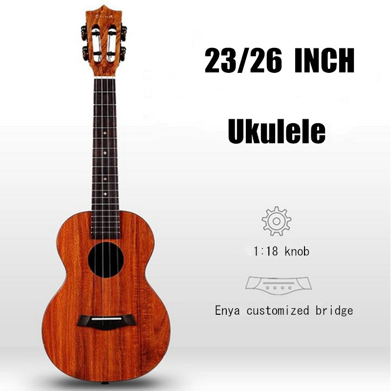 EnyaX1 23 26 Inch Rosewood Guitarra Guitar Hawaii Concert Tenor Ukulele 4 Strings Ukulele For Musical Stringed Instruments Lover soprano concert tenor ukulele 21 23 26 inch hawaiian mini guitar 4 strings ukelele guitarra handcraft wood mahogany musical uke