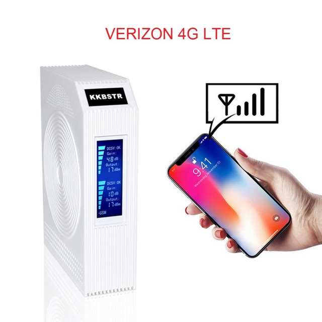 f00176287d7678 KKBSTR Cell Phone Signal Booster Verizon Home 4G Cell Phone Signal Repeater  FDD LTE Band13 Band2 Cellular Signal Amplifier Kit