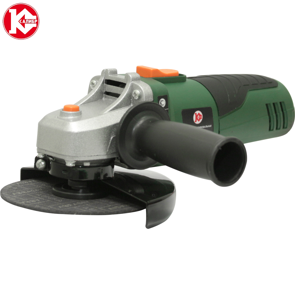 Electric tool Angle grinder Kalibr MSHU-125/755, disc 125mm, power 755W, angular power tool for grinding and cutting metall kalibr mshu 230 2200p handheld electric angle grinder speed regulating grinding machine for metal wood polishing cutting tool