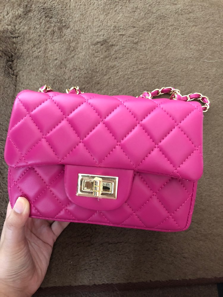 Famous Brand Leather Messenger Bags Luxury Shoulder Bag Quilted Designer Handbags Women Pink Bag Vintage Small Crossbody Bags photo review