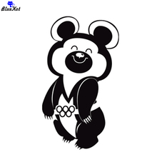 CS-008#20*11.6 cm Olympic Bear 1980 cool vinyl car sticker and decal for rear window/bumper auto car stickers removable spider web hood rear window auto car vinyl decal stickers