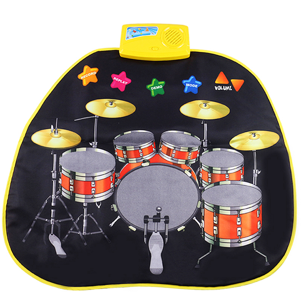 Baby Kids Jazz Drums Musical Play Mat Rug Multiuse Music Educational Toy Gift