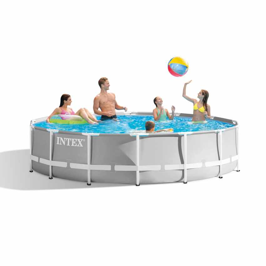 Scaffold Round Pool For Garden Leisure Summer Outdoor Summer Size 366 х99 Cm, 8600 L, Intex Metal Frame, Item No. 26716np