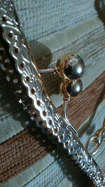 KISSDIY 3pcs / lot 20.5cm M Vintage Metalen Portemonnee Frame golden antiek brons zilver gouden kus sluiting Handvat DIY Tas Accessoires photo review