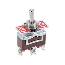 UXCELL 1pcs Momentary Lacthing Rocker Toggle Switch Heavy-Duty 15A 250V 2/3/12P ON/OFF/ON or ON/OFF Metal Bat Supplies