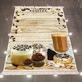 Else коричневая деревянная чашка торты цветок пончик крем Роза 3d печать микрофибра противоскользящая задняя моющаяся декоративная кухонная ...