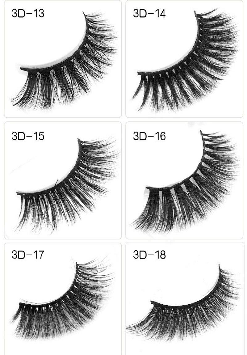 18 estilos vison cílios vison 3d vison