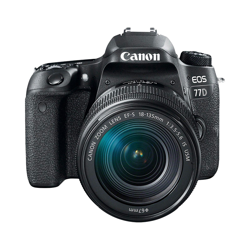 DSLR Camera Canon EOS 77D 18-135mm black