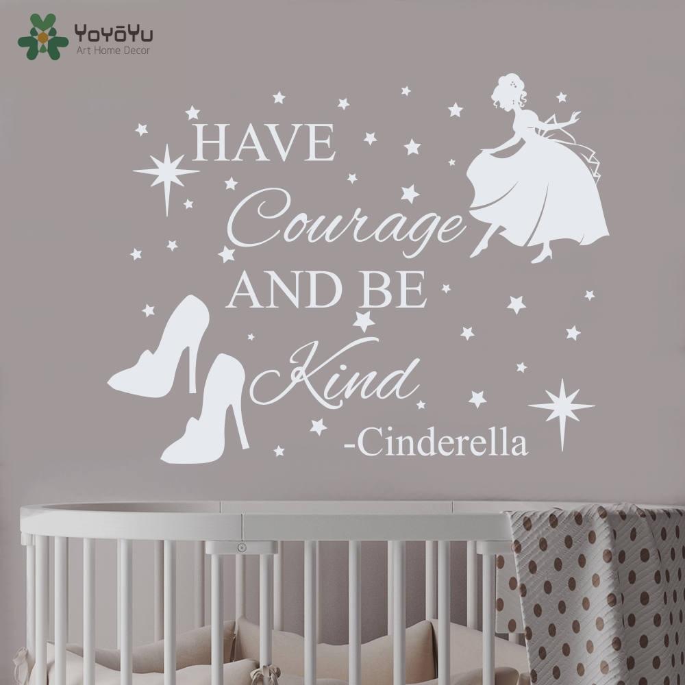 Princess Vinyl Decal Wall Sticker Words Lettering Nursery: Wall Decal Vinyl Sticker Nursery Cinderella Quote Princess