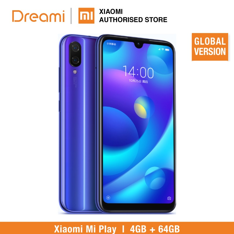 Global Version Xiaomi Mi Play 64GB ROM 4GB RAM LTE (Official Rom)