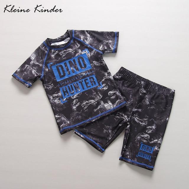 09cbbcb8ce Cheap Children s Swimwear baby boy short sleeve separate dinosaur print  black cool paddling dry pool bathing
