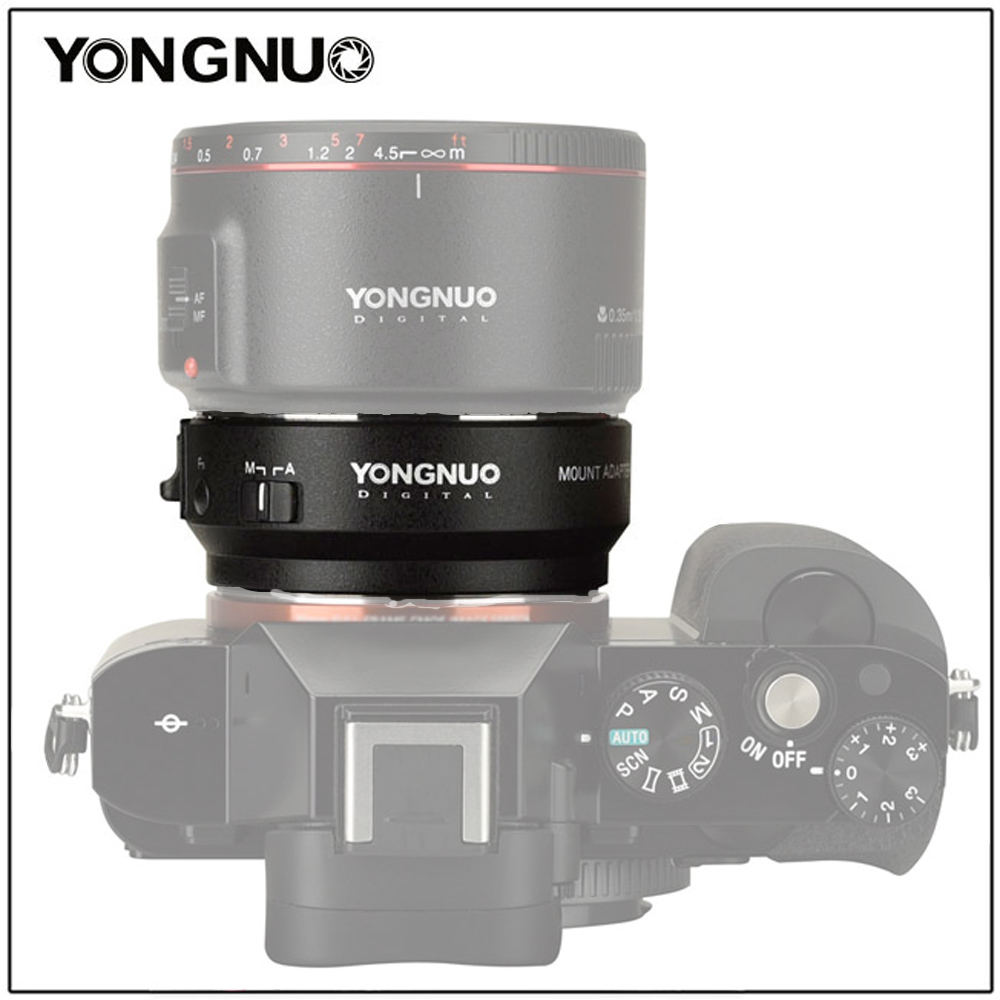 Yongnuo EF-E II Auto Focus Adapter Ring For Canon EF Mount Lens Sony E-mount Camera A6500 A6400 A9 A7m3 A7r3 A7m2 A7r2 A7 III II