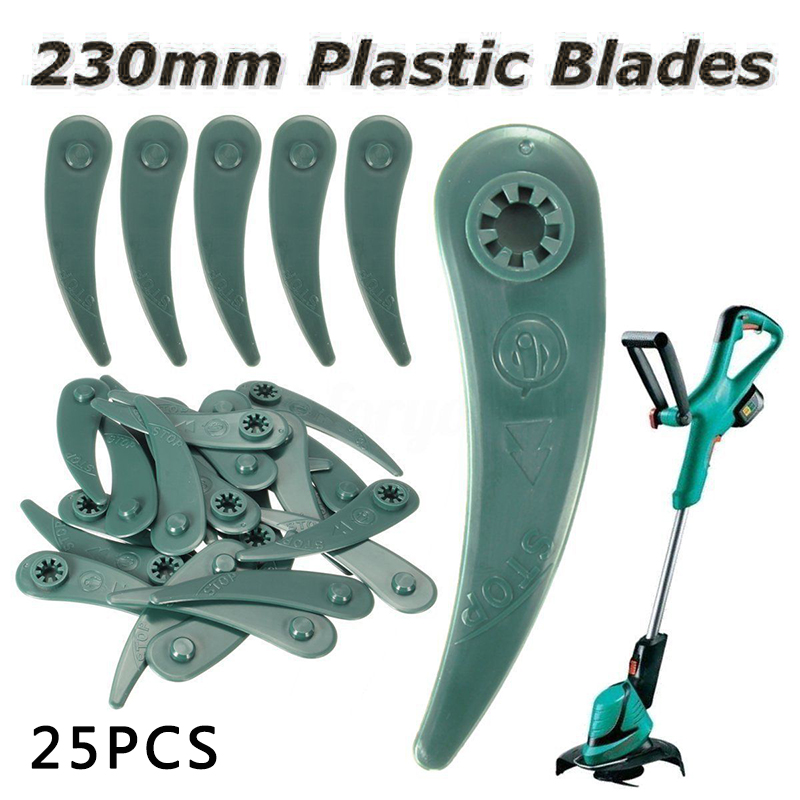 25pcs Plastic Blades For Bosch ART 23-18 Li/26-18Li Grass Strimmer Trimmer Plastic Garden Accessories Lawn Mower Plastic Blade