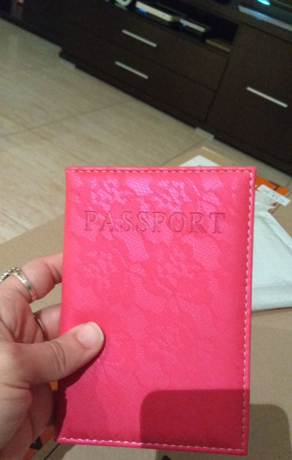 Luxe elegante vrouwen paspoort Cover Pink World Universal Travel paspoort ticket houder Dek op het paspoort hoesje paspoort zakje photo review