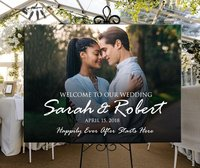 Wooden welcome photo wedding sign printable personalized,custom welcome photo sign for wedding birthday,picture welcome sign