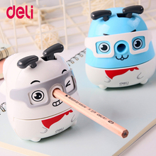 Deli 2018Cute Kawaii Animal Dog Pencil Sharpener Korean Kids School Supplies Stationery Hand Crank mechanical pencil sharpeners
