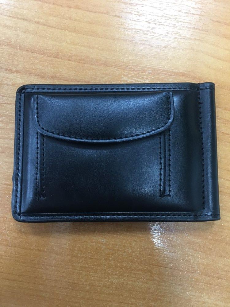 gubintu Money Clip Men Front Pocket Wallet For Coin Leather Purse Male Slim Clamp For Money Metal Cash Holder Credit Card photo review