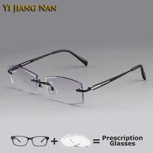 Мужские очки без оправы с алмазной резкой oculos de grau masculino