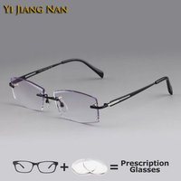 Yi Jiang Nan Brand Diamond Cutting Rimless Oculos De Grau Masculino Armacao for Men Eyeglasses Prescription Spectacles Eyewear